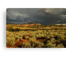 Stormy Utah Landscape Canvas Print