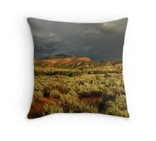 Stormy Utah Landscape Throw Pillow