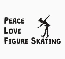 Peace Love Figure Skating Kids Clothes