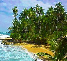Beach close to Manzanilo, Caribbean, Costa Rica by Guy Tschiderer