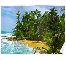 Beach close to Manzanilo, Caribbean, Costa Rica Poster