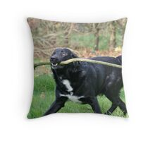 It's Never to Big for a Dog! Throw Pillow