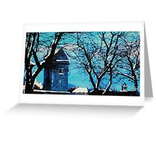 St Andrew's Kirk Tower, Peebles (digitally enhanced photograph) Greeting Card