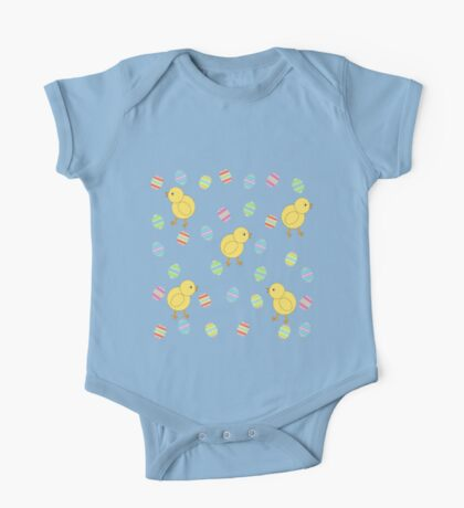 Easter Chicks with Easter Eggs One Piece - Short Sleeve