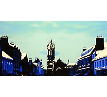 The High Street, Peebles (digitally enhanced photograph) Photographic Print