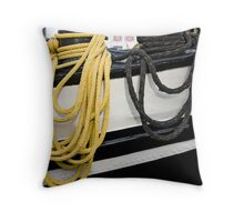 hanging ropes Throw Pillow