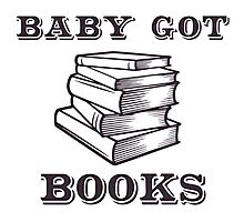 Baby Got Books Photographic Print