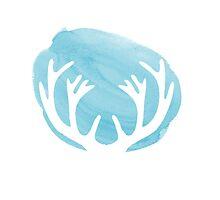 Blue deer antlers by MariondeLauzun