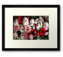 Easter eggs and flowers Framed Print