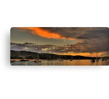 Storm Clouds - Newport Beach - The HDR Series Canvas Print