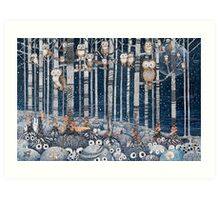 First snow in the Forest Art Print