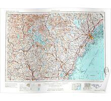 Maine USGS Historical Map Portland 460769 1963 250000 Poster