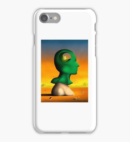 Perfil em Verde. iPhone Case/Skin