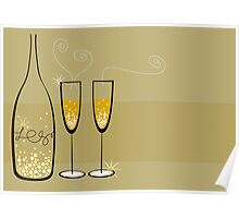 Champagne Bubbles Celebration Poster