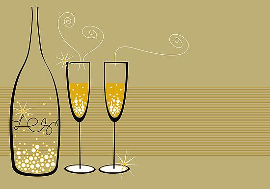 Champagne Bubbles Celebration by fatfatin
