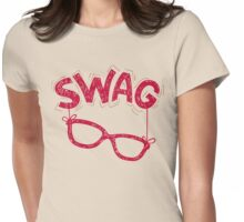 Swag Glasses typographic design Womens Fitted T-Shirt
