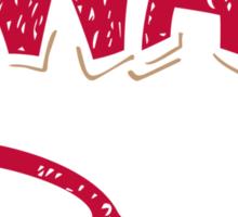 Swag Glasses typographic design Sticker