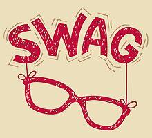 Swag Glasses typographic design by PaulMalyugin