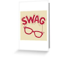 Swag Glasses typographic design Greeting Card