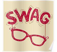 Swag Glasses typographic design Poster
