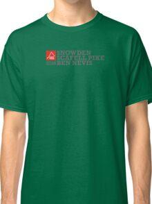 East Peak Apparel - Mountain Print - 3 Peak Challenge T-Shirts Classic T-Shirt