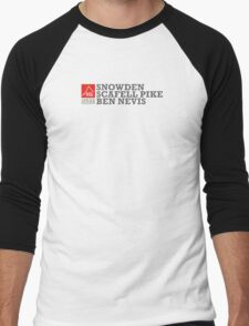 East Peak Apparel - Mountain Print - 3 Peak Challenge T-Shirts Men's Baseball ¾ T-Shirt