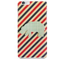 Hippo -vintage plaid and stripes iPhone Case/Skin