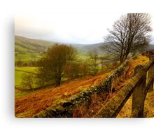 Rolling Hills in Yorkshire UK Canvas Print