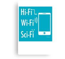 Hi-Fi Wi-Fi Sci-Fi Canvas Print