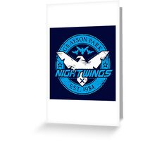 Grayson Park Nightwings White Blue (03 of 04) Greeting Card