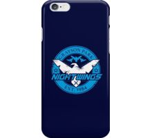Grayson Park Nightwings White Blue (03 of 04) iPhone Case/Skin