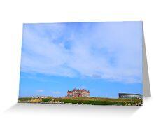 The Headland Hotel Newquay Greeting Card