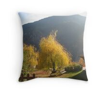 Autumnal landscape Throw Pillow