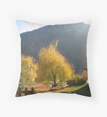 Autumnal landscape Throw Pillow