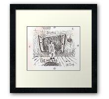 DUKE - GENESIS - HAND REDRAWN(C2012) Framed Print