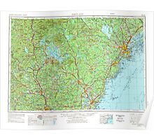 Maine USGS Historical Map Portland 707527 1956 250000 Poster