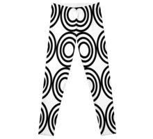 0744 Black and White Adinkrahene Leggings