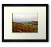 Beautiful Landscape in Yorkshire UK Framed Print