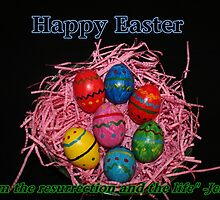 Easter Eggs Card by hummingbirds