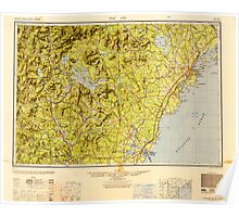 Maine USGS Historical Map Portland 707528 1949 250000 Poster