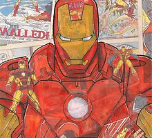 Vintage Comic Ironman by Daveseedhouse