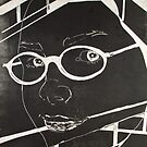 Linoleum Print Self-Portrait by Ginamarie McCarty