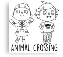 Animal Crossing Villagers Outline Canvas Print