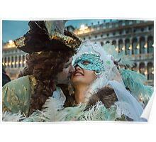 Masked Lovers in Venice Poster