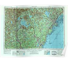 Maine USGS Historical Map Portland 807046 1956 250000 Poster