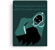 Some people just want to watch the world mana burn (Jace) Canvas Print