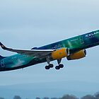 Icelandair 757 'Northern Lights' Livery departing Manchester by PlaneMad1997