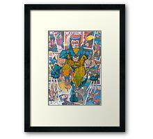 Vintage Comic Wolverine Framed Print