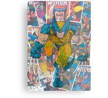 Vintage Comic Wolverine Metal Print