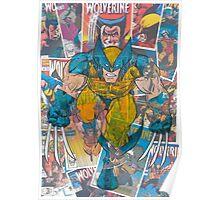Vintage Comic Wolverine Poster